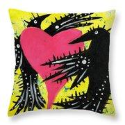 Raven Love Throw Pillow