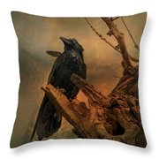 Raven Lover Throw Pillow