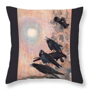 Raven Party Throw Pillow