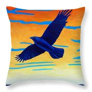 Raven Rising Throw Pillow
