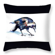 Raven Shadow From Vancouver Throw Pillow