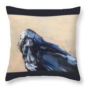 Raven Stare Throw Pillow