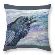 Raven Study 4 Throw Pillow