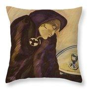 Raven - The Absinthe Drinker Throw Pillow