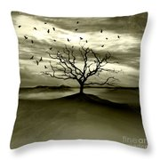 Raven Valley Throw Pillow