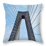 Ravenel Bridge Charleston Throw Pillow