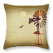 Ravens Under The Moon Throw Pillow