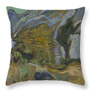 Ravine With A Small Stream Saint Remyde Provence  October 1889 Vincent Van Gogh 1853  1890 Throw Pillow