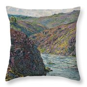 Ravines Of The Creuse At The End Of The Day Throw Pillow