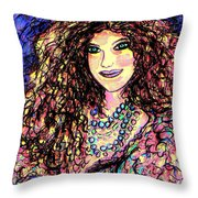 Ravishing Beauty Throw Pillow