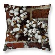 Raw Cotton Throw Pillow