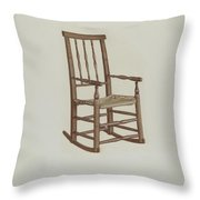 Raw Hide Bottom Rocker Throw Pillow