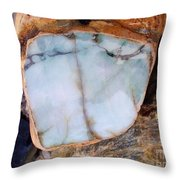 Raw Jadite Rock Throw Pillow