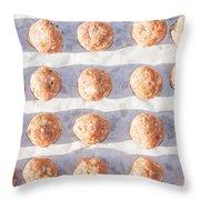 Raw Meat Balls Throw Pillow