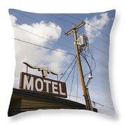 Rawhide Motel Throw Pillow