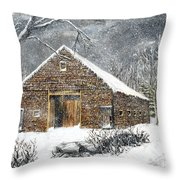 Ray Emerson's Old Barn Throw Pillow