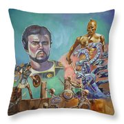 Ray Harryhausen Tribute Jason And The Argonauts Throw Pillow