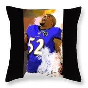 Ray Lewis  Throw Pillow