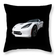 Ray Of Light - Corvette Stingray Throw Pillow