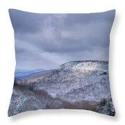 Ray Of Light On Mountain Throw Pillow