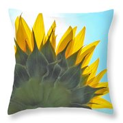 Ray Of Sunflower Throw Pillow