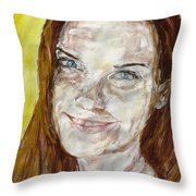 Rayah Newman, Portrait Throw Pillow