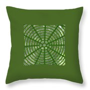 Rays And Circles Abstract 01 Throw Pillow