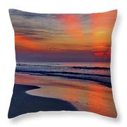 Rays From Heaven Throw Pillow