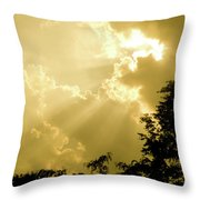 Rays Of Glory Throw Pillow