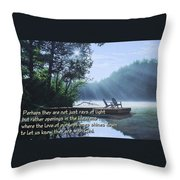 Rays Of Light - Place To Ponder Throw Pillow