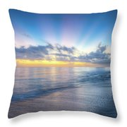 Rays Over The Reef Throw Pillow