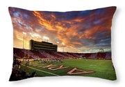 Razorback Sunset Throw Pillow