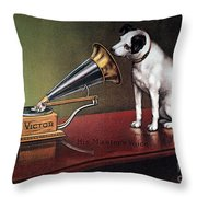 Rca Victor Trademark Throw Pillow by Granger