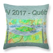Rdv 2017 Quebec Mug Shot Throw Pillow