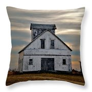 Re-purposed Grainery Throw Pillow