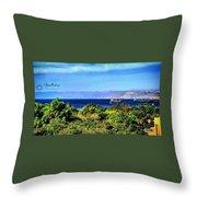 Rea Sea Aqaba Throw Pillow