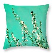 Reach - Botanical Wall Art Throw Pillow