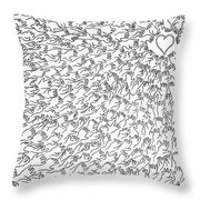 Reaching For Love Throw Pillow