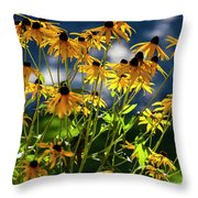 Reaching For The Blue Sky Throw Pillow