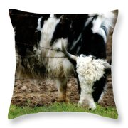 Reaching For The Green Throw Pillow