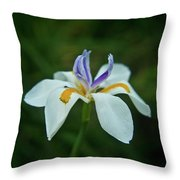 Reaching Iris Throw Pillow