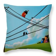 Reaching New Heights Throw Pillow by Cindy Thornton
