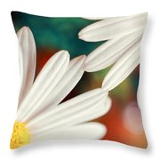 Reaching Out Throw Pillow by Silvia Ganora