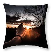Reaching Out To Dad In Heaven  Throw Pillow
