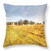 Reaching Some Trees After A Climb Throw Pillow
