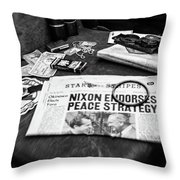 Read All About It Throw Pillow