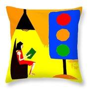Reader 2 Throw Pillow
