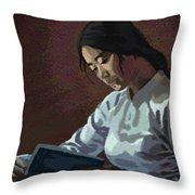 Reader Throw Pillow