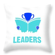 Readers Are Leaders Throw Pillow