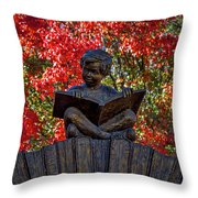 Reading Boy - Santa Fe Throw Pillow